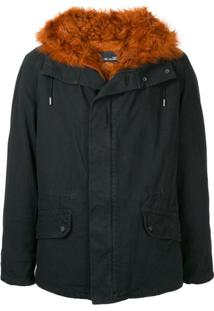 Yves Salomon Fur Lined Zip-Up Parka - Azul