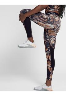 Legging Nike Pro Tight Coral Print Feminina