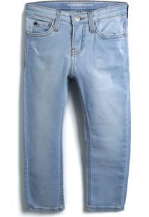 Calça Jeans Jeans Calvin Klein Kids Menino Liso Azul