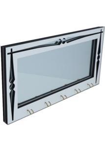 Porta Chaves Crie Casa Moderno Branco Com Espelho