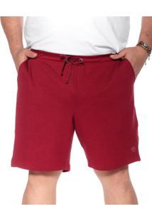 Bermuda Moletinho Bigshirts Plus Size Wafer Vinho