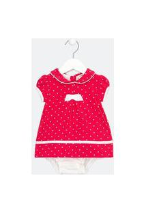 Vestido Body Infantil Estampado - Tam 0 A 18 Meses   Teddy Boom (0 A 18 Meses)   Rosa   3-6M