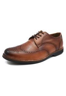 Sapato Social Oxford Shoes Grand Smooth Caramelo Tamanho Grande