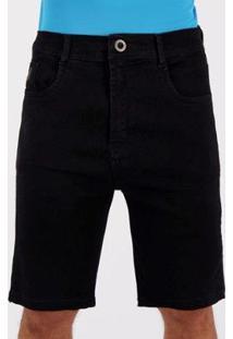 Bermuda Jeans Hang Loose Sunset Preta - Masculino