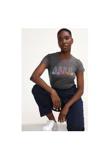 Camiseta Aeropostale Floral Grafite