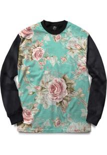 Blusa Bsc Flowery Sky Full Print - Masculino
