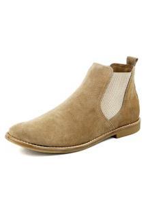Botina Chelsea Boots Areia Lançamento Escrete