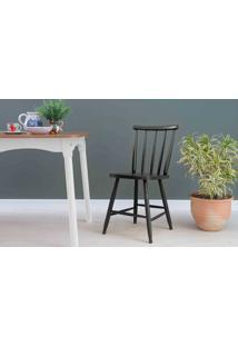 Cadeira Para Sala De Jantar Mimo Laqueada Preta 44X41,5X81Cm