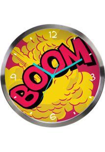 Relógio De Parede De Metal - Dc Comics - Boom - Colorido - 30,5X3,8Cm - Metrópole