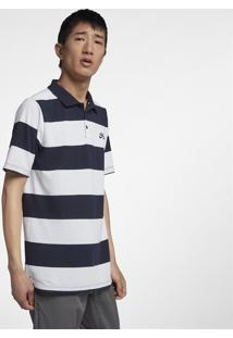 Camiseta Polo Nike Sb Dri-Fit Stripe Masculina 0191ccd42856b