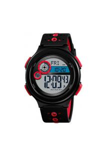 Relógio Skmei Digital -1375- Preto E Vermelho