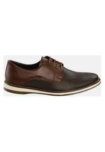 Sapato Ernest Amarração Tressê Marrom
