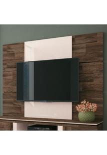 Painel Para Tv Até 70 Polegadas Level Marrom Deck E Off White
