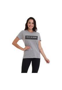 Camiseta Jay Jay Basica Delete The Drama Cinza Mescla Dtg