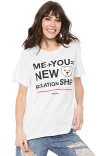 Camiseta Coca-Cola Jeans Relationship Branca