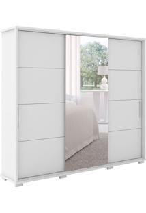 Guarda-Roupa Casal Com Espelho New Fortuno 3 Pt 6 Gv Branco