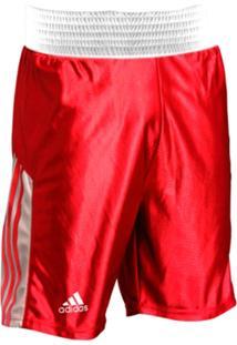 Shorts De Boxe Adidas Vermelho