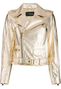 Manokhi Biker Jacket - Dourado