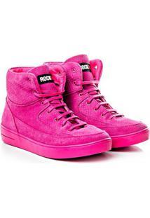 Tênis Rock Fit Amsterdan Em Couro Pink