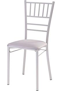Cadeira Tiffany Assento Korino Branco Com Base Branca - 46859 - Sun House