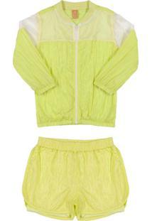 Conjunto Jaqueta E Shorts Amarelo