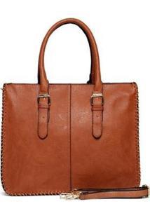 Bolsa Nice Bag Pasta Notebook Feminina - Feminino-Marrom