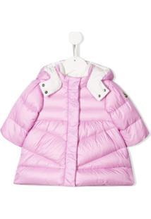 Moncler Kids Concealed Padded Jacket - Rosa