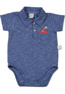 Body Bebê Malha Listrada Guarda Do Embaú Carangu - Masculino-Azul