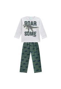 Pijama Infantil Menino Camiseta + Calça Kyly Mescla