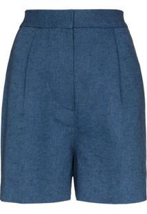 Lvir Short Cintura Alta - Azul