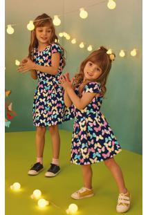 Vestido Borboletinha Em Piquê Menina Malwee Kids