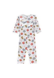 Pijama Em Malha Brilha No Escuro Brandili Cinza