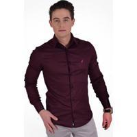 bf5dcff297 Camisa Horus Social Super Slim - Masculino-Vinho