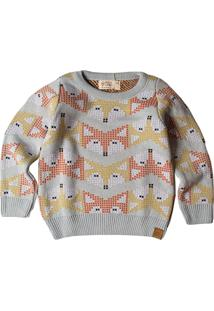 Casaco Suéter Mini Lord Fox Azul-Claro