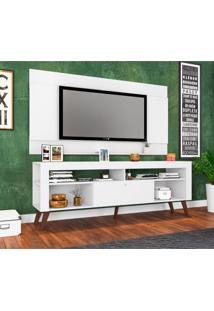 Rack Com Painel Para Tv 55 Polegadas Itália Branco