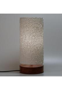 Luminária Flor Branca