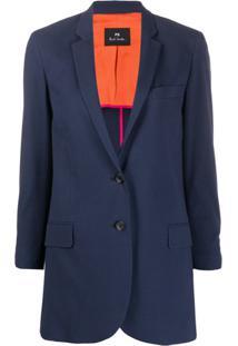 Ps Paul Smith Slim-Fit Jacket - Azul