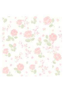 Papel De Parede Coleçáo Bambinos Rosa Branco Flores 3361 Bobinex