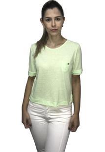 Camiseta Hifen Com Bolso Verde - Kanui