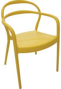 Cadeira Sissi Com Braços Amarelo