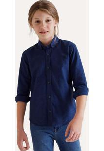 Camisa Mini Pf Ml Oxford Black Reserva Mini Cinza