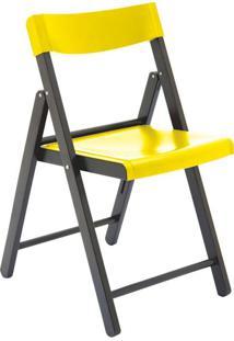 Cadeira Potenza Tabaco E Amarela Tramontina