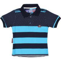 Camisa Polo Infantil Rodeo Western Listrada Masculina - Masculino-Azul a909b67e36