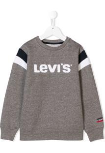 Levi'S Kids Moletom Com Estampa De Logo - Cinza