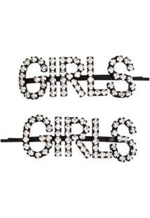 Ashley Williams Acessório Para Cabelo Girls Com Aplicação De Cristal - Preto