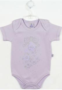 Body Bebê Manga Curta Flores P - Feminino