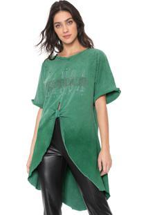 Camiseta Lança Perfume Alongada Verde