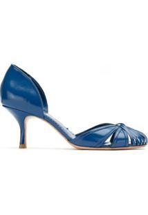 Sarah Chofakian Scarpin De Couro - Azul