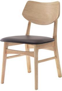 Cadeira Scandinavian Mad Natural Assento Pvc Cafe - 38594 - Sun House