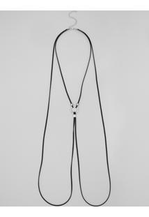 Colar Body Chain Com Argola